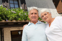 Senior couple at home Royalty Free Stock Photos