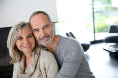 Senior couple at home Royalty Free Stock Photography