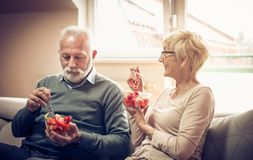 Healthy senior couple. royalty free stock photography
