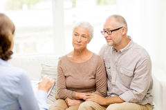 Senior couple at home Royalty Free Stock Photo