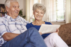 Senior couple at home Stock Images