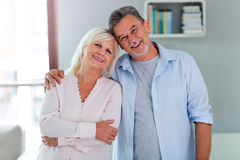Senior couple at home. Loving senior couple at home Stock Images