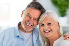 Senior couple at home. Loving senior couple at home Royalty Free Stock Photo