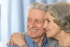 Senior couple at home Royalty Free Stock Photo