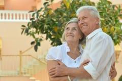 Senior couple  at hotel resort Stock Images