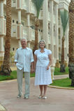 Senior couple  at hotel resort Royalty Free Stock Photography