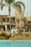 Senior couple  at hotel resort Stock Photography