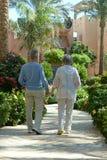 Senior couple at hotel Royalty Free Stock Photos