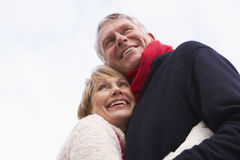 Senior Couple Hugging Royalty Free Stock Photos
