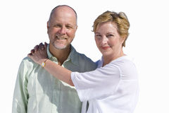 Senior couple hugging, cut out royalty free stock images