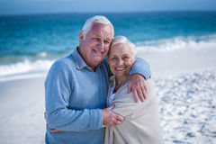 Senior couple hugging each other Stock Photo