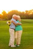 Senior couple hugging. Stock Images