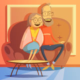 Senior Couple Illustration Royalty Free Stock Photos