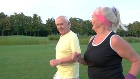 Senior Couple Jogging. Stock Photo