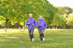 Free Senior Couple Jogging In Park Royalty Free Stock Photos - 76517338