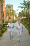 Senior couple jogging Stock Photos