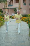 Senior couple jogging Stock Photography