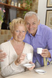 Senior couple kitchen. Royalty Free Stock Photos