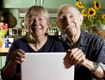 Senior Couple with a Laptop Computer Royalty Free Stock Image