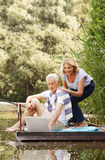 Senior couple with laptop Stock Image