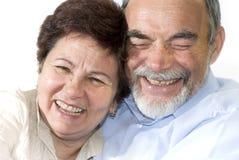 Senior couple laughing Royalty Free Stock Image