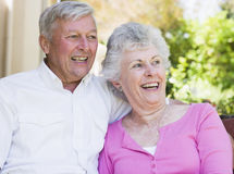 Senior couple laughing together Royalty Free Stock Images