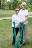 Senior couple leading healthy lifestyle Stock Photo