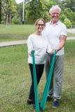 Senior couple leading healthy lifestyle Stock Photo