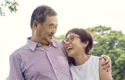 Senior Couple Leisure Outside Concept. Senior Couple Leisure Recreation Outdoors Royalty Free Stock Image
