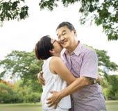 Senior Couple Leisure Outside Concept Stock Images