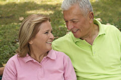 Senior Couple Looking Stock Photography