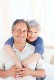 Senior couple looking at the camera Royalty Free Stock Image