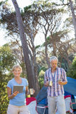 Senior couple looking their technology object Stock Photo