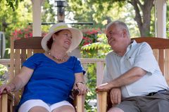 Senior Couple Looking Trustfully Royalty Free Stock Photo
