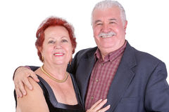 Senior Couple Looking at you Proudly and Happily Royalty Free Stock Photos