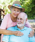 Senior Couple In Love. Outdoor portrait of beautiful senior couple in love Stock Image
