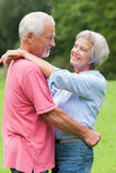 Senior couple in love Stock Photography