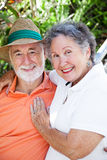 Senior Couple in Love. Outdoor portrait of an adorable senior couple in love Royalty Free Stock Photography