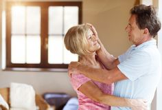 Senior couple in love Stock Image