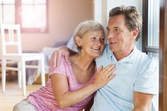 Senior couple in love Royalty Free Stock Images