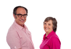 Senior couple. Love birds posing Stock Images