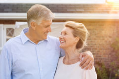 Senior couple in love stock photos