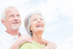 Senior couple in love Royalty Free Stock Image