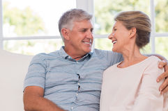 Senior couple in love Royalty Free Stock Photo