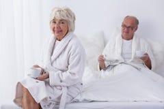 Senior couple in luxury hotel Royalty Free Stock Photo