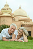 Senior couple lying Royalty Free Stock Photos