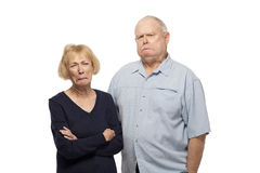Senior couple making face Royalty Free Stock Photography