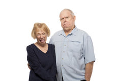 Senior couple making faces Stock Image