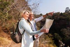 Senior couple mountain Stock Image