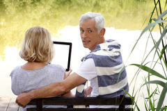 Senior couple in the nature Royalty Free Stock Photography